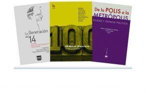 Portada de los 3 libros que se presentan esta semana en el Palacio de Colomina