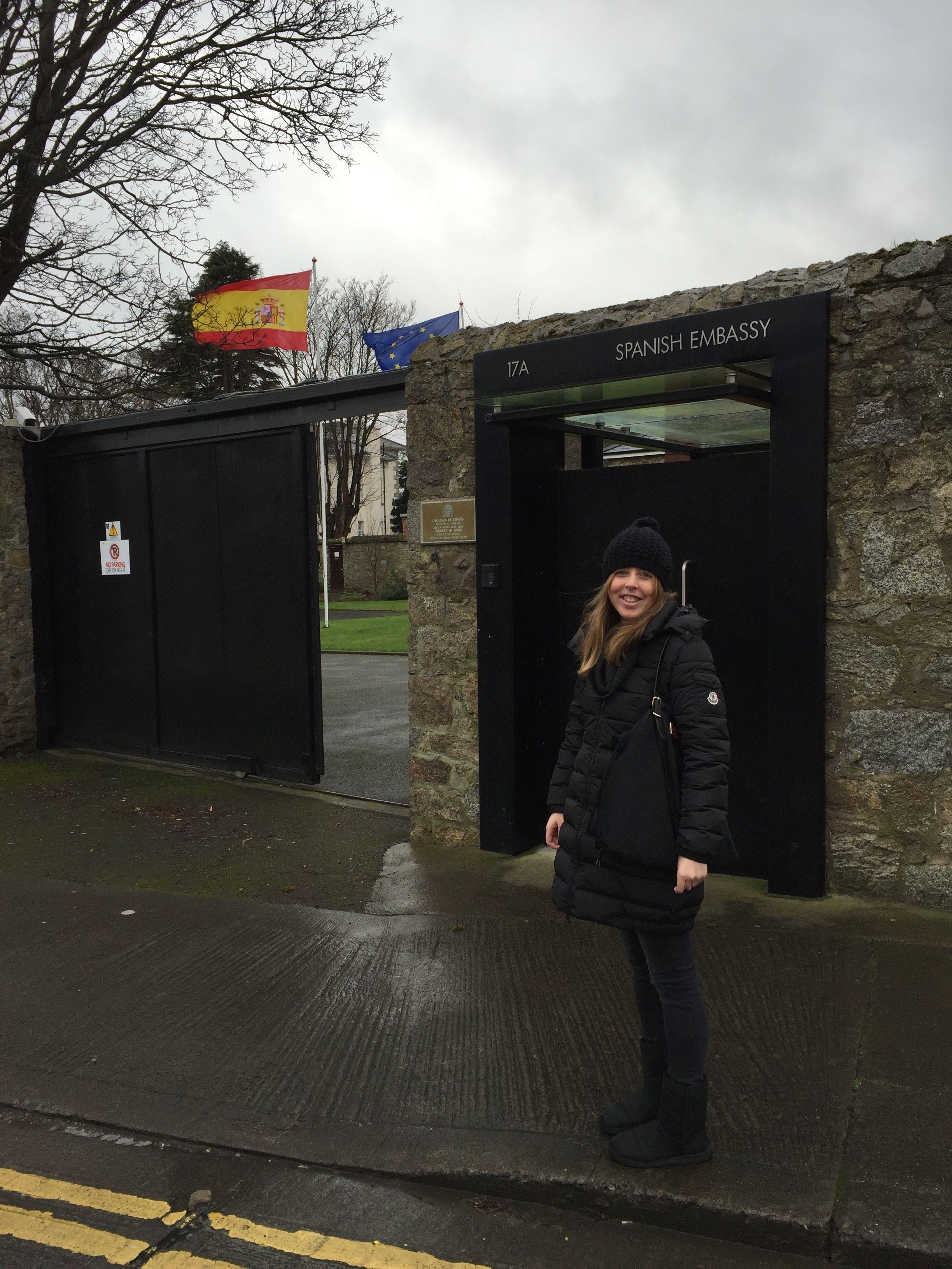 Patricia Delás en la Embajada de España en Dublín