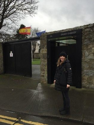 Patricia at the Spanish Embassy in Dublin