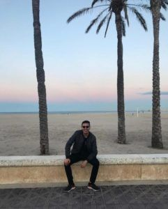 At Malvarrosa Beach, Valencia