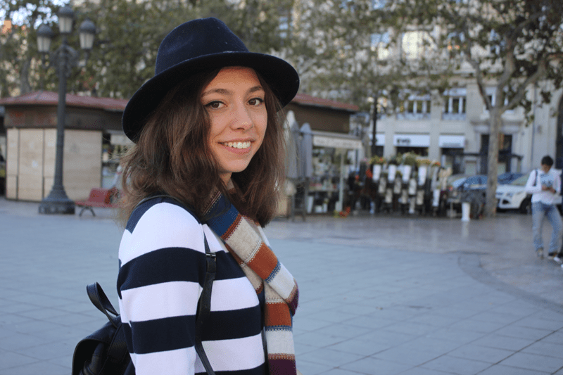 Andrea has enjoyed her stay in Valencia, as the city reminds her of her hometown Lyon.