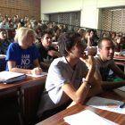 Alumnos de Producción Audiovisual durante el rodaje
