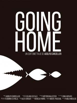 "Cartel del cortometraje ""Going Home"""