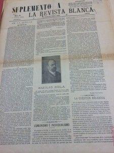Ejemplar de la Revista Blanca en los fondos del Ateneo