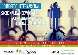 Cartel I Congreso Internacional sobre Calidad Democrática, Buen Gobierno y Lucha contra la Corrupción