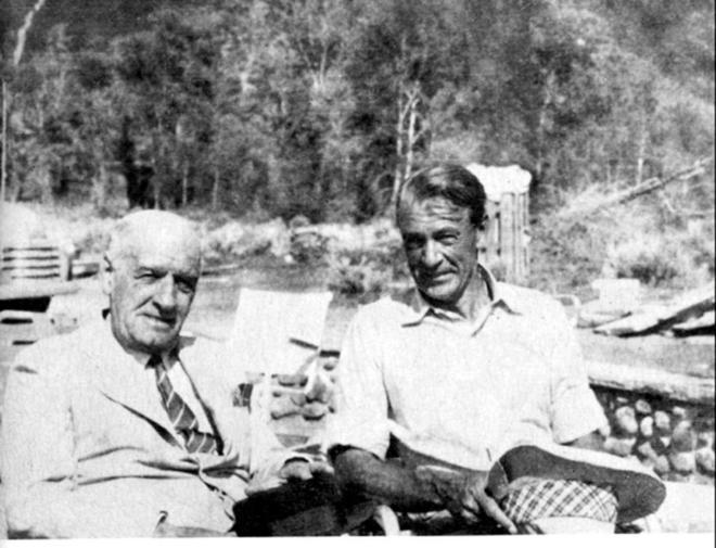 Ortega y Gasset y Cooper en Aspen, en 1949 (Fuente: Fundación Ortega y Gasset - Gregorio Marañón)