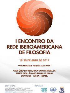 Cartel del I Encuentro de la Red Iberoamericana de Filosofía