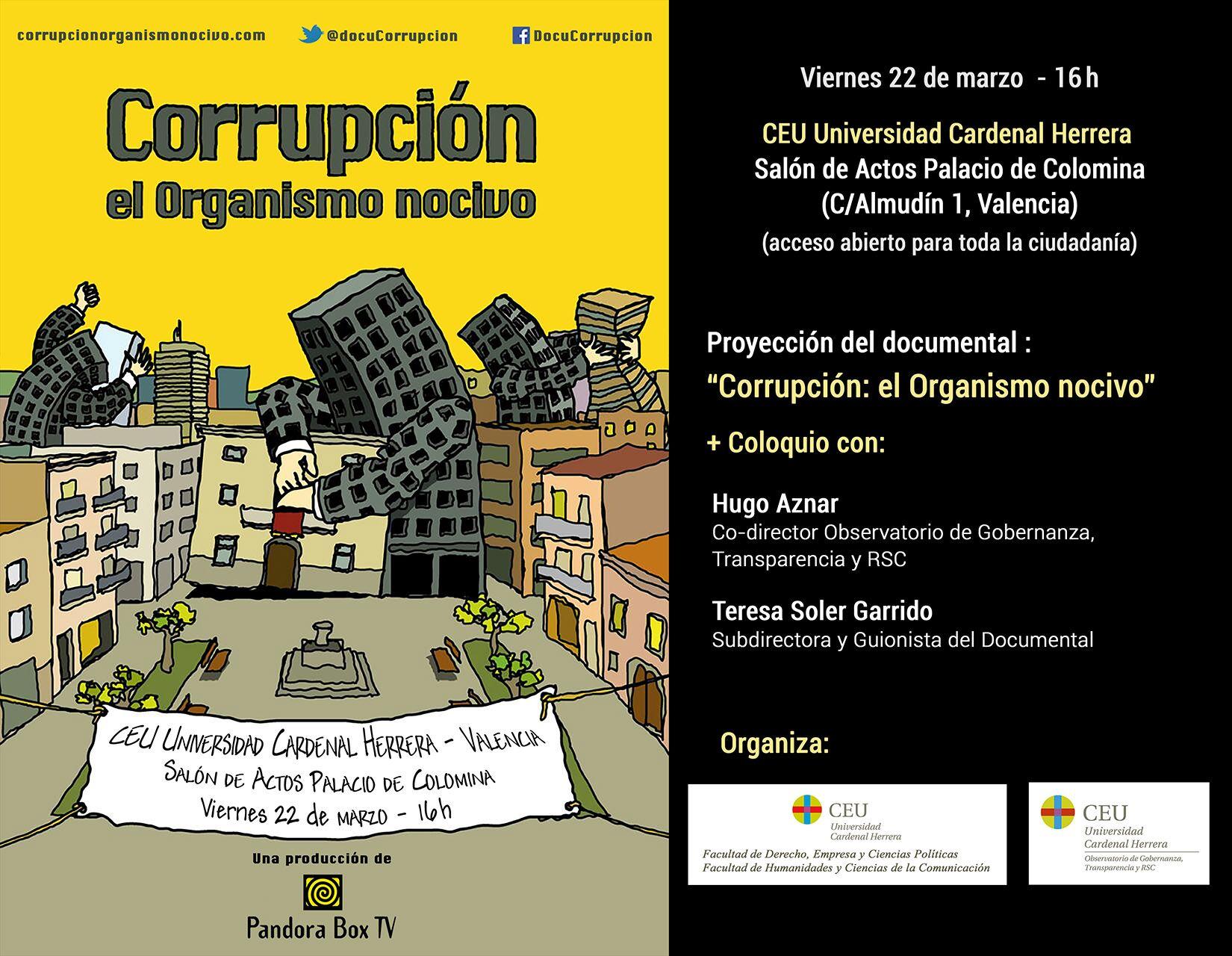 Cartel corrupción