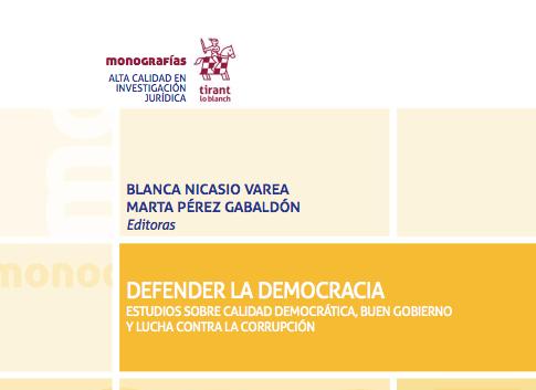 Portada libro Defender la democracia