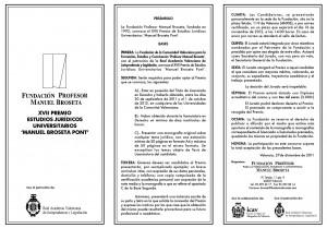 Bases Premio Jurídico Universitario Manuel Broseta