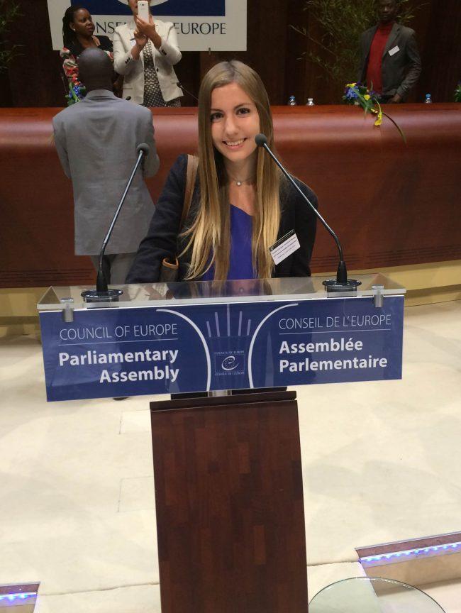 Belén Juste, en la Asamblea Parlamentaria del Consejo de Europa, Estrasburgo