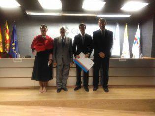 Con Eloy Sentana, Secretario ACdP, y Pablo Balaguer, Director del Colegio CEU