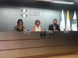 Mª Rosa Garía, Mª Dolores Cano y Pablo Díaz