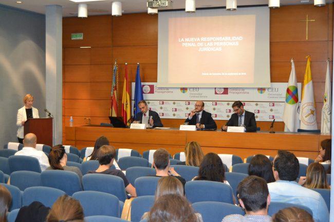 Jornada sobre la Responsabilidad Penal de las Personas Jurídicas en la CEU-UCH