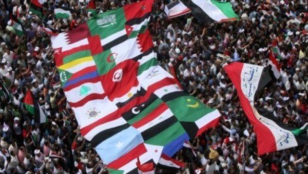 Primaveras Árabes. Banderas de países de Medio Oriente y Norte de África