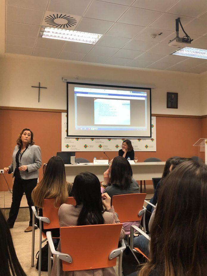 Dolores Ríos Peset durante su intervención.