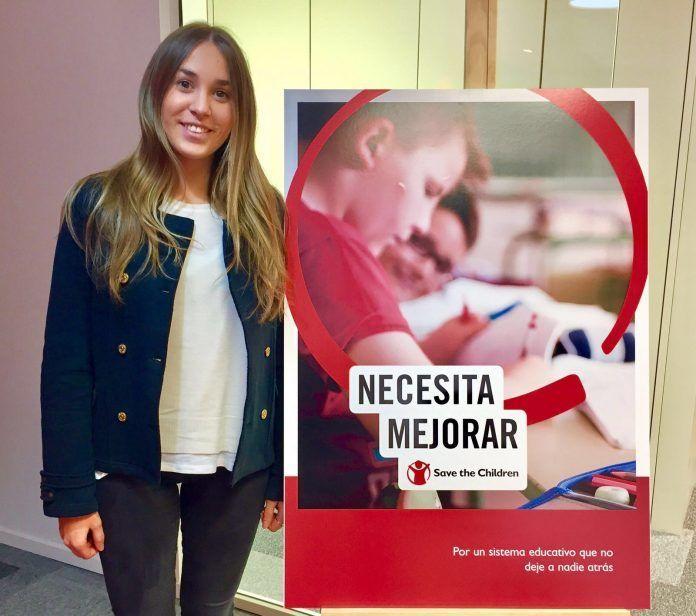 Rocío Alamar during her internship at Save the Children, Madrid.