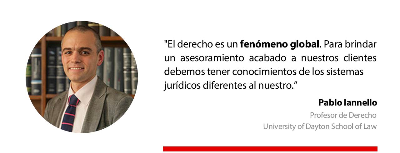 Pablo Iannello, profesor de la University of Dayton School of Law