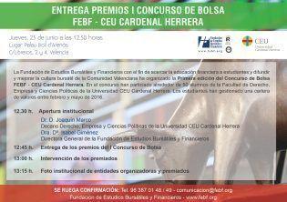 EntregaPremiosPrimerConcursoBolsaFEBF_CEUCardenalHerrera