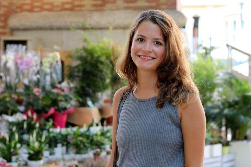 Denise, estudiante de la FH Münster en Valencia