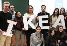 Estudiantes CEU UCH en una sesión de reclutamiento para prácticas y Working Meanwhile en IKEA