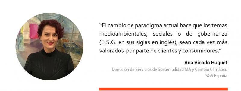 Ana Viñado, de la empresa SGS