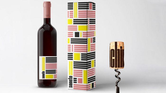 Diseño de botella de vino