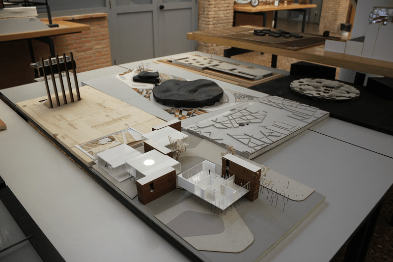 Miniature models by the Architecture students.