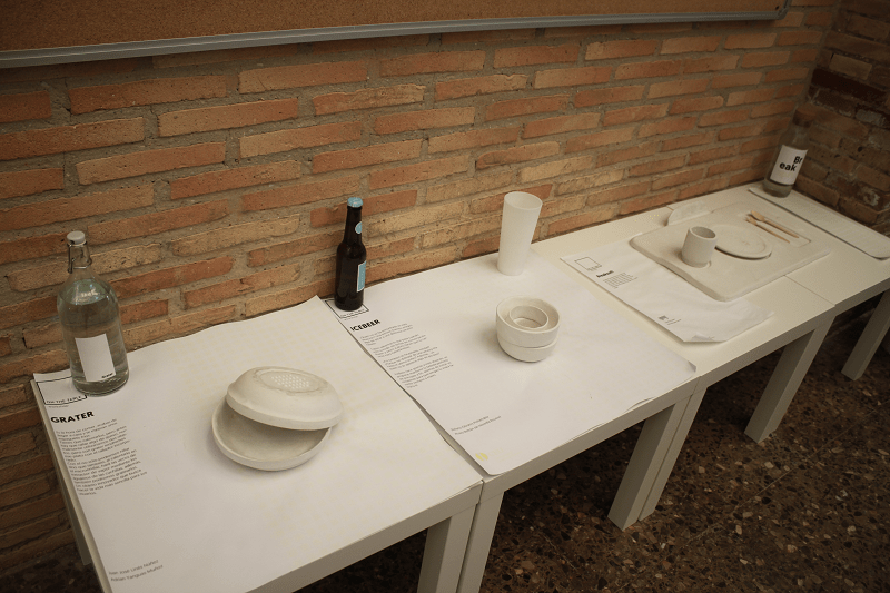 Students' designs on display at the Technical School.