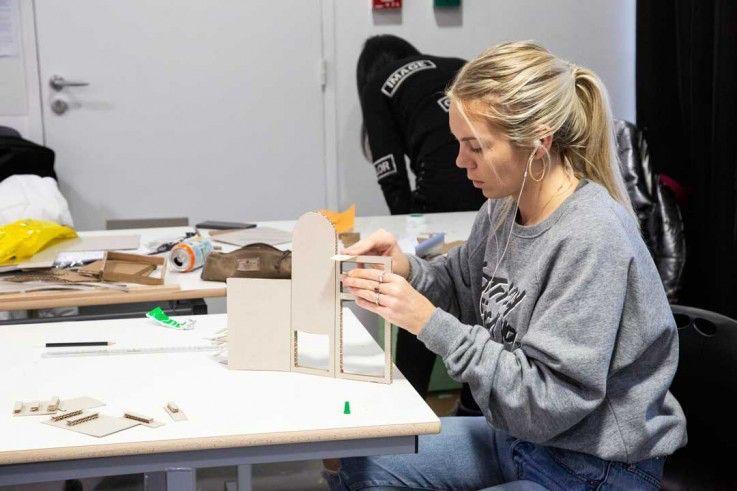 Elena, in our Technical School of Design