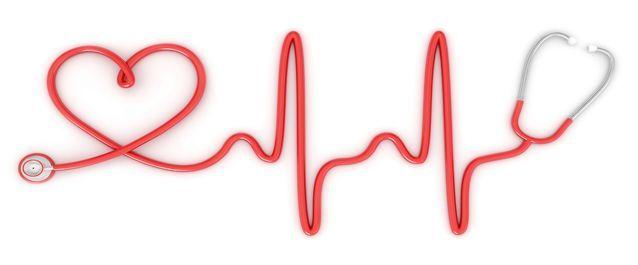 forma de corazón con un fonendo