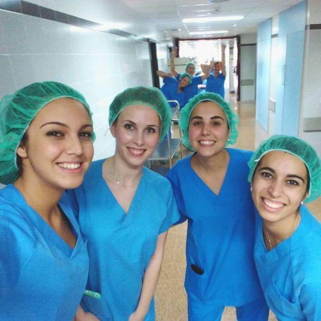 Alumnas del Módulo de Enfermería Quirúrgica