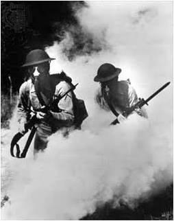 1ª Guerra mundial. Gases de cloro licuado