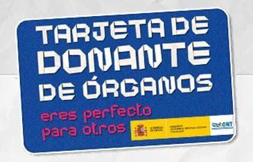 Tarjeta de donante de órganos ONT