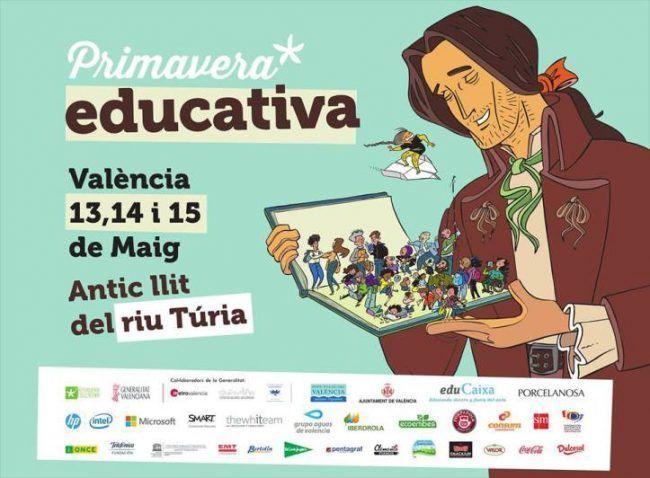 Cartel de la Primavera Educativa de Valencia 2016