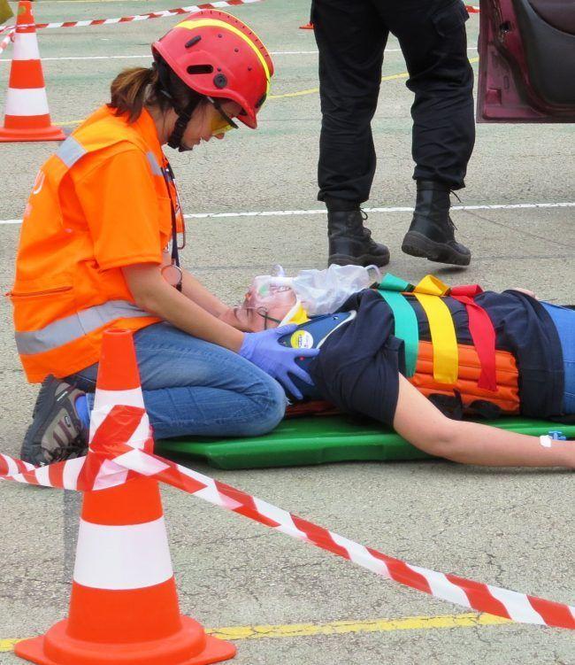 La enfermera del equipo de bomberos: Luci