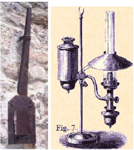 Lámparas de aceite de Quinquet
