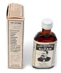 Envase del Linimento de Sloan, comercializado en España como Especialidad Farmacéutica Publicitaria (E.F.P.)
