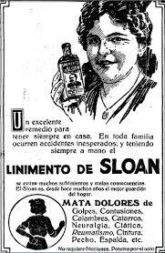 Anuncio publicitario del Linimento de Sloan