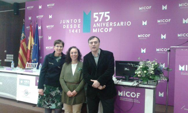 Dra. Nuria de la Muela, Dra. Teresa Olivar y Dr. Vicente J. Bauxauli (de izquierda a derecha)