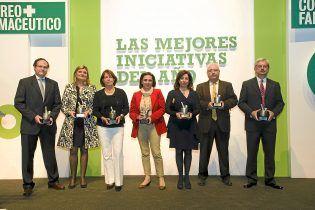 Fiesta, Acto de entrega de premios a LAS MEJORES INICIATIVAS DEL AÑO 2014. CORREO FARMACÉUTICAESPECIAL MEDICAMENTOS PUBLI. CF
