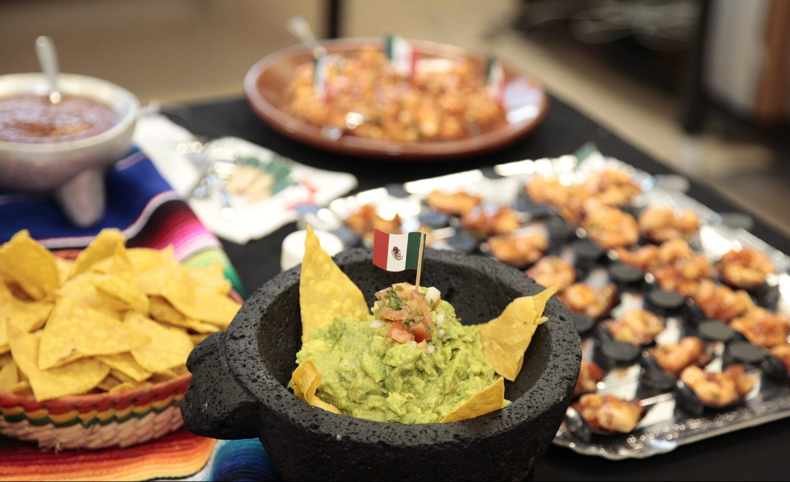 Traditional Mexican food prepared by our international students