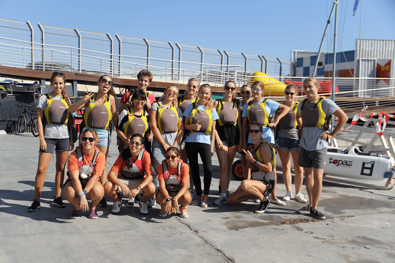 Eirin was one of the winners of Campus Life's Welcome Week competition and got a free sailing experience at the Valencia port!