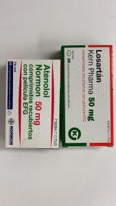 Envase de ambos fármacos