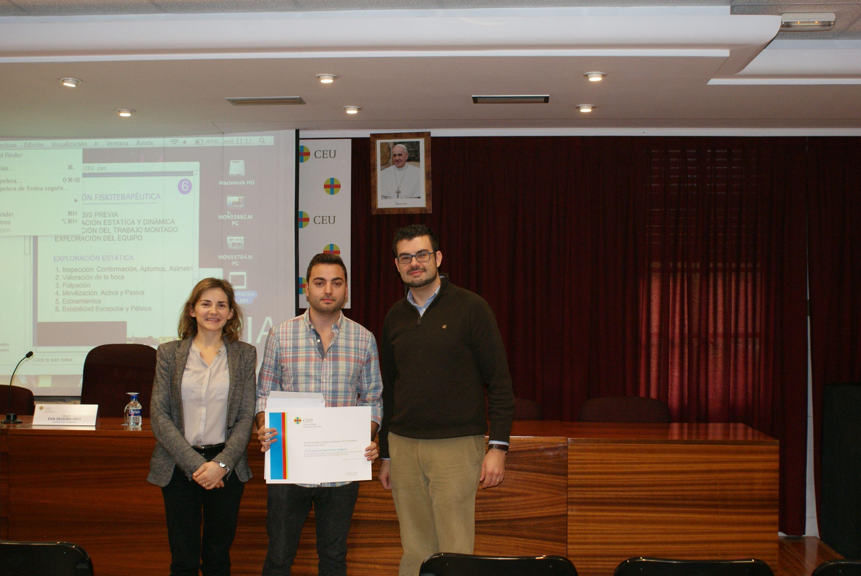 Fran Ferrer, premiado con el mejor trabajo UCH-CEU de Fisioterapia