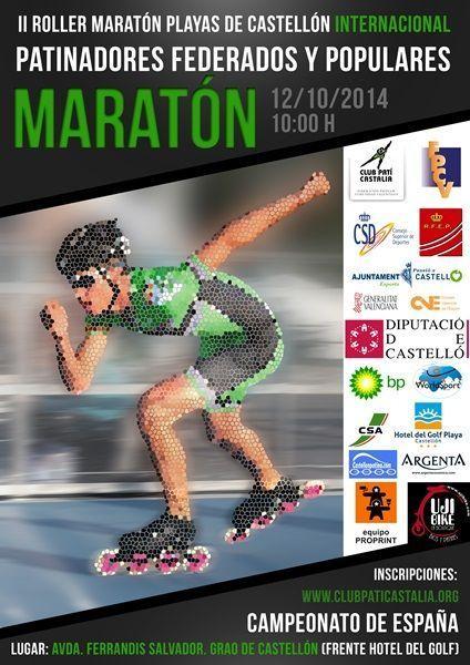 Cartel de la II Roller Maratón Playas de Castellón