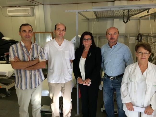D. José Ángel González, D. Javier Montañez, Dª Ángela Garrido, D. Vicente Ferrandis y  Dª Irene Girbes