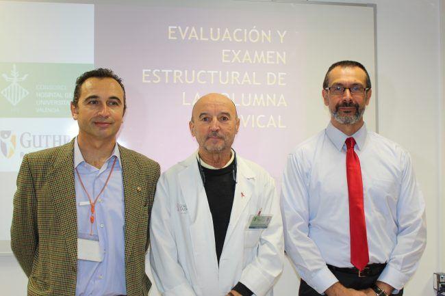 José Ángel Gonzalez, Vicente Ferrandis y José Polo en la presentación de la sesión clínica-master class del Dr. Polo