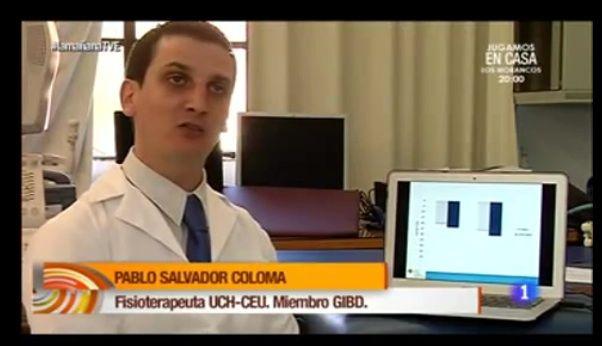 Pablo Salvador, profesor del Grado de Fisioterapia de la CEU-UCH, en TVE