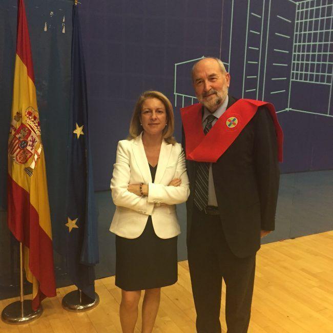 La Rectora de la CEU-UCH, Dra. Rosa Visiedo, y el Dr. Pedro Rosado